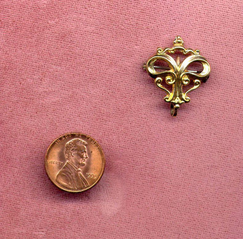 Ladies' Gold-Filled Fleur-de-Lis Watch or Fob Pin