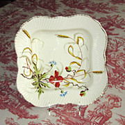 Hand-Painted German Ironstone Pottery Bowl