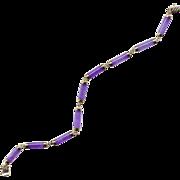 14K and Lavender Jade Link Bracelet