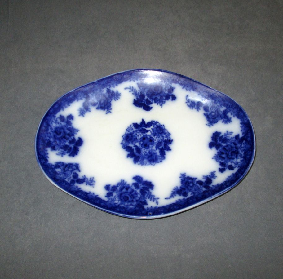 "Small Flow Blue ""Waldorf"" Pottery Platter"