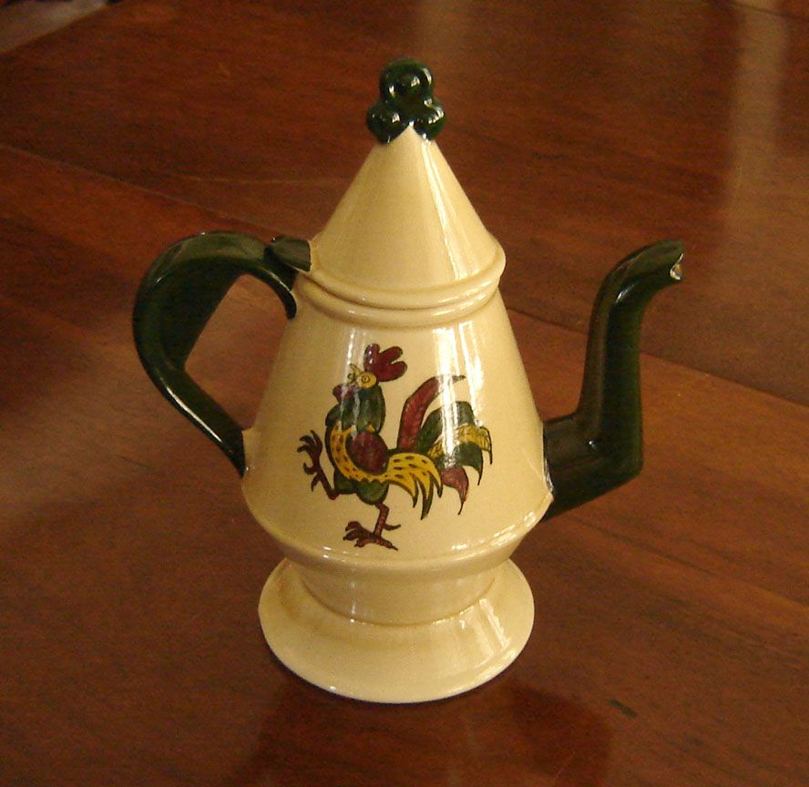 Metlox Poppytrail Rooster Coffee Pot