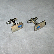 Denmark Sterling Blue Stone Cufflinks