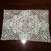 Hand-Made Lace Tray-Cover or Place-Mat Doily