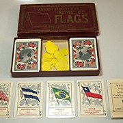 """Parker Brothers """"Improved Game of Flags"""" c.1915"""