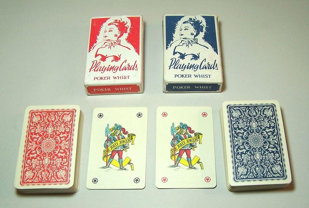 "Twin Decks Piatnik (Hungary) ""151 Poker Whist"" Playing Cards, Dutch/Flemish Pattern (for Denmark/Sweden), c.1950"