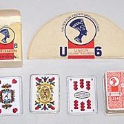 "German Miniature ""Sächsisches Doppelbild"" (""Saxon Pattern"") Skat Playing Cards, Maker"