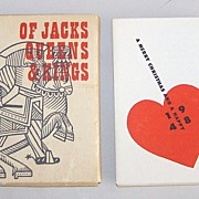 "Huxley House ""Of Jacks, Queens & Kings,"" Gatefold Samplers 18th Century Playing Cards, Wal"