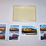 """Double Deck Railroad Playing Cards and Card Game, """"Mainliner"""" (Braceridge, Ontario, Canada), Dave Morin Copyright, c.1976"""