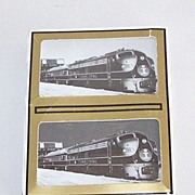 """Double Deck Gemaco """"Illinois Central Railroad – Engine 100"""" Playing Cards"""