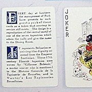 "Standard ""Park Lane Hotel Apartments (Tapestry Room)"" Playing Cards, c.1926"