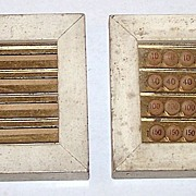 "Pair ""Double Pinochle"" Game Counters, Max Hofheimer Manufacturer and Selling Agent, c.1890"