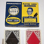 "Double Deck Arrco ""Bridgepoint"" Playing Cards, Bridgepoint Playing Card Co. Publisher, c.1"