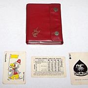 "Double Deck ""Remy Martin"" Playing Cards, Auction Bridge Set, Hong Kong Maker (Arrco Courts), c.1930s"