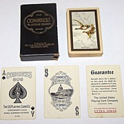 "USPC ""Congress 606 Bridge"" Playing Cards, ""The Flight"", c.1926"