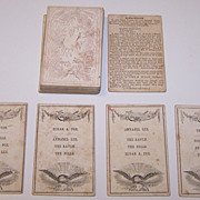 """John M. Wolff """"American Poets"""" Card Game, Quartets Type, Publisher John M. Wolff, Statione"""