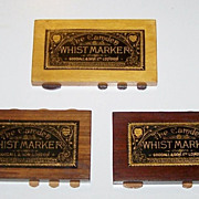 "3 Goodall ""Camden"" Whist Markers, c.1900"