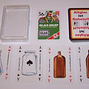 "ASS ""Glas-Skat"" Skat Playing Cards, Arne Leihberg Designs, c.1975"