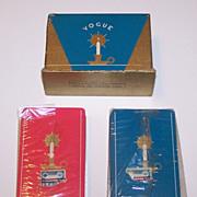 "Double Deck USPC ""Vogue"" Playing Cards, Art Deco Candlestick Backs, c.1936"