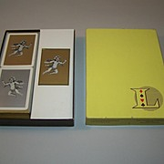 Lanselle Bridge Set, Fournier Playing Cards, Score Pads, c.1960
