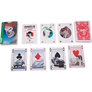 "Modiano ""Diabolik"" Playing Cards, Lo Scarabeo Publisher, Angela and Luciana Giussani Creators, Sergio Zamboni Designs, c.1994"