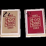 "Twin Decks Brown & Bigelow""Soo Line Centennial"" Railroad Playing Cards, c.1983, $15/ea."