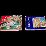 "2 Double Decks Italcards Souvenir Playing Cards, $15/ea.: (i) ""Pisa""; (ii) ""Firenze"" (Seriplast), c.1975"