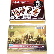 "2 Double Decks Non-Standard Piatnik Playing Cards, $15/ea.: (i) ""Glorious America,"" c. 199"