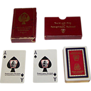 """Pennsylvania Railroad """"Broadway Limited"""" Pinochle Playing Cards, c.1923"""