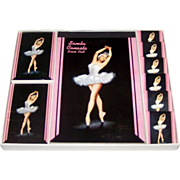 Arrco Canasta Set w/ Playing Cards (2), Score Pads, Match Books, Karen Kiel Illustration, c.19