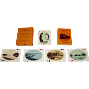 """USPC """"Along the C. M. & St. P. Ry—Lake Michigan to Puget Sound"""" Railroad Playing Cards, Chicago, Milwaukee, St. Paul and Pacific Railroad, Van Noy Interstate Publisher, c.1916"""