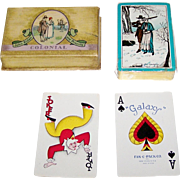 "King Press ""Galaxy Fan C Pak"" Playing Cards, ""John Alden and Priscilla"" Playing Cards,"