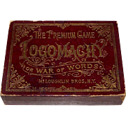 """McLoughlin Bros. """"Logomachy or War of Words"""" Game, c.1889"""