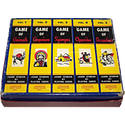 "Language Institute, Inc. ""Learn Spanish by Playing Cards"" Games, Full Set of 5 Games (Anim"