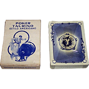 """Clemente Jacques """"Poker Taurino"""" Playing Cards, Carlos Ruano Llopis Designs, c.1950s"""