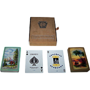 "Double Deck USPC Congress ""Pennsylvania Railroad"" Playing Cards, c.1948"