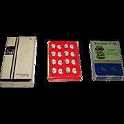 """3 Decks U.S. Advertising Playing Cards, $15/ea.: (i) B&B """"Tootsie V-M"""", c.1940s; (ii) B&B"""