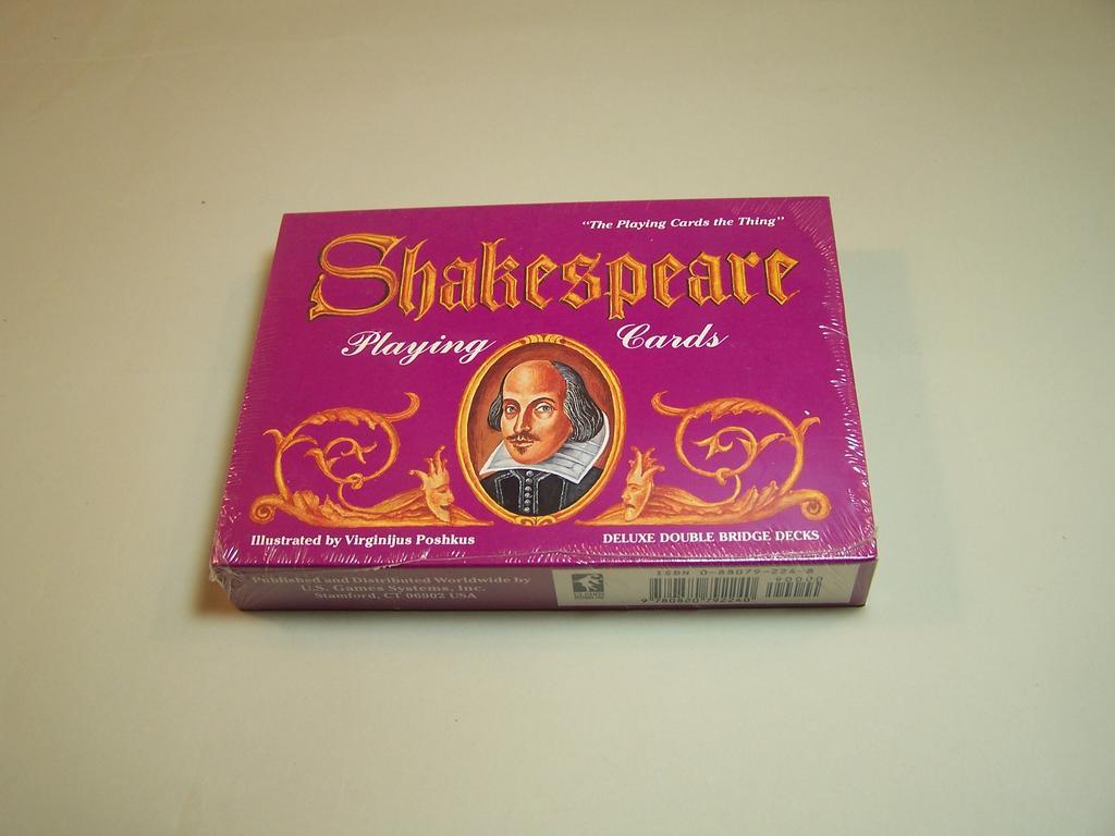 Double Deck of Carta Mundi (U.S. Games) Shakespeare Playing Cards, Virginijus Poshkus Illustrations