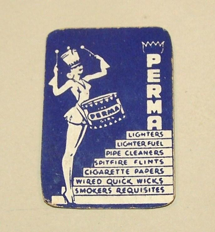 """Perma Girl"" Miniature Playing Cards, Maker Unknown, ""Perma"" Adv. (Tobacciana), c.1930s"