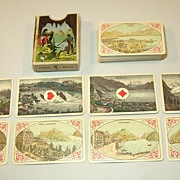 """Muller """"Costumes et Vues Suisses"""" Playing Cards, c.1910"""