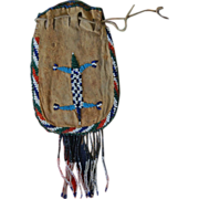 1890's Western Apache Beaded and Fringed Bag