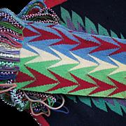 Omaha Indian Beaded Wool Dance Sash