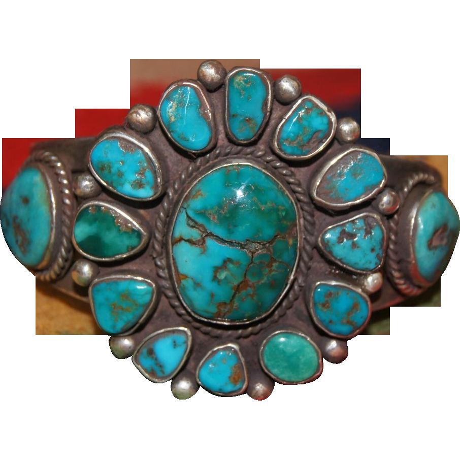 1920's Navajo Cluster Bracelet