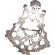 1700's Iroquois Trade Silver Brooch