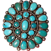 Vintage Zuni Turquoise Cluster Ring