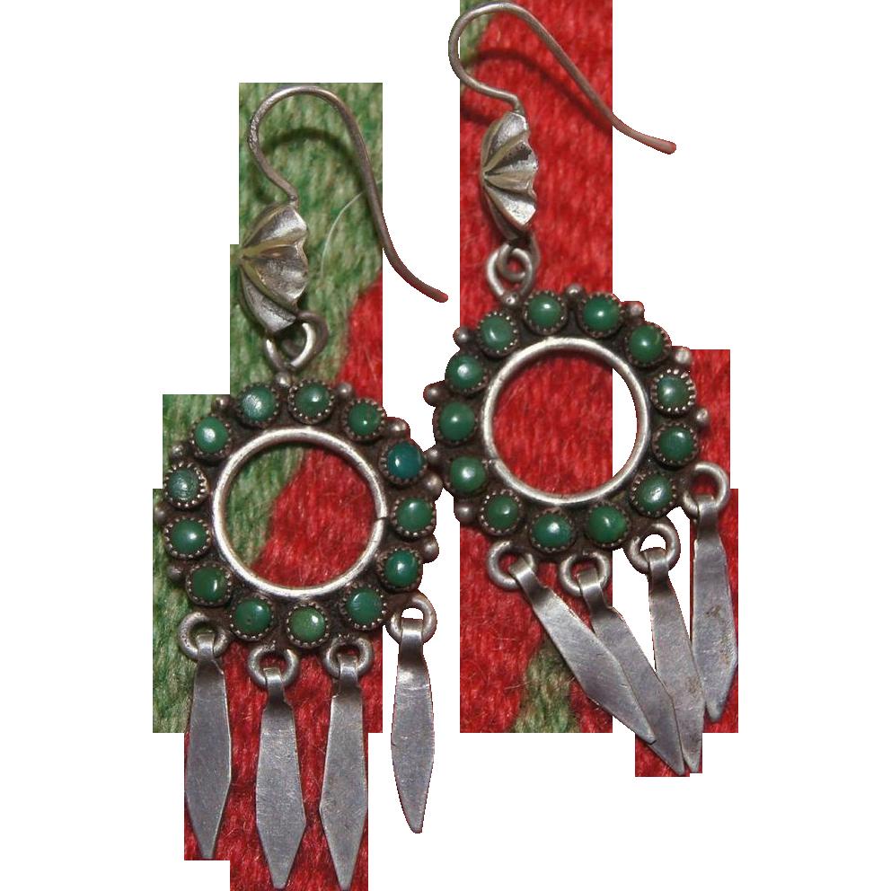 Zuni Snake Eye Earrings