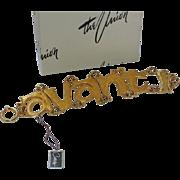 SALE Castlecliff 1960's Italian Avanti Word Bracelet