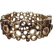 RARE Boucher 1955 Mid Century Modernist Circle Clamper Bracelet