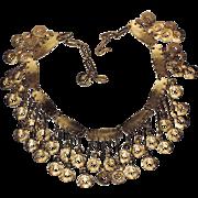 Vendome 1967 Bolder Than Gold Modernist Bib Runway Necklace ~ RARE