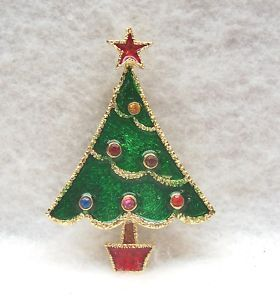 Beatrix Signed Triangular, Potted Christmas Tree Pin ~ Book Piece