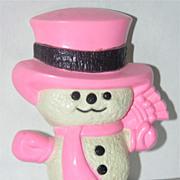 Avon 1975 Snowman Pin Pals Fragrance Glace